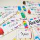 Étiquettes d'identification (Thème : Popsicles)