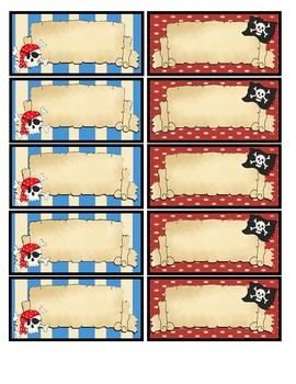 Étiquettes de Pirates