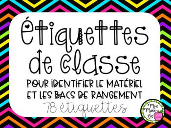Étiquettes de classe - Rentrée scolaire (Back to School Labels)