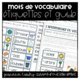 Étiquettes de vocabulaire   French Distance Learning Vocab. Cards Growing Bundle