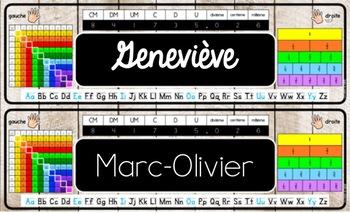 Étiquettes modifiables + étiquettes de révision