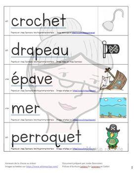 Étiquettes-mots Pirate