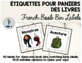 Étiquettes pour bibliothèque de classe - French classroom library labels