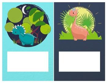 Étiquettes pour casiers - dinosaures
