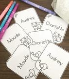 Étiquettes pour identification de casier - modifiable *Nouveautés*