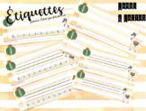 Étiquettes pour les prénoms - Lamas & cactus