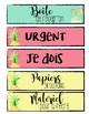 Étiquettes pour panier tropical