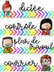 Étiquettes pour paniers/bacs colorés et vibrants