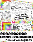 Étiquettes pour pupitres (modifiable) - Editable Student N