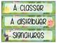 Étiquettes tropicales modifiables pour la classe