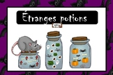 Étranges potions dénombrement préscolaire