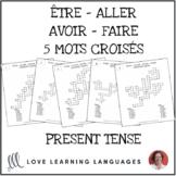 Être - Aller - Avoir - Faire - 5 Crossword Puzzles - Dista