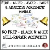 Être, Aller, Avoir, Faire + Descriptive French Adjectives - BUNDLE