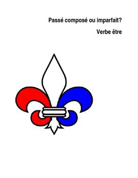 Etre - Passé composé vs Imparfait worksheet/quiz/test