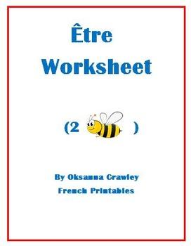Etre Worksheet