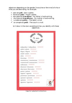 Etre and adjectives - personality