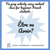Être avoir French verbs worksheet or quiz - Present tense