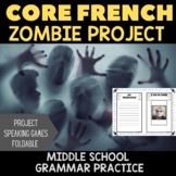 Être + Adjectives:  Zombie Project for Middle School FSL