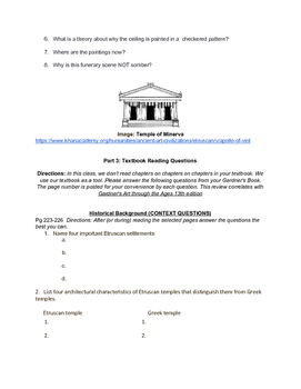 AP ART HISTORY: Etruscan And Roman Study Guide- Khan/ Gardners