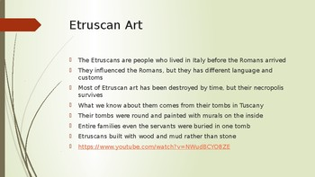 Etruscan PowerPoint lecture (AP Art History)