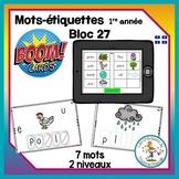 Étude de mots - bloc 27 - Boom Cards in French - Distance