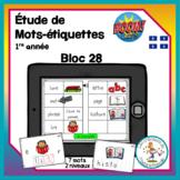 Étude de mots - bloc 28 - Boom Cards in French - Distance