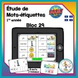 Étude de mots - bloc 29 - Boom Cards in French - Distance