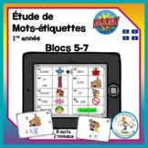 Étude de mots - blocs 5-7 - Boom Cards in French