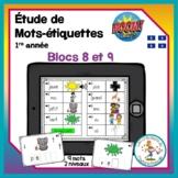 Étude de mots - blocs 8-9 - Boom Cards in French