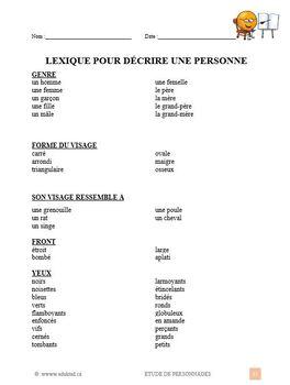 Étude de personnage, French Immersion (#210)