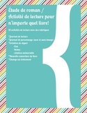 Étude de roman / Activités de lecture