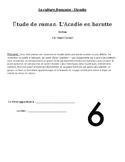Étude de roman: L'Acadie en baratte