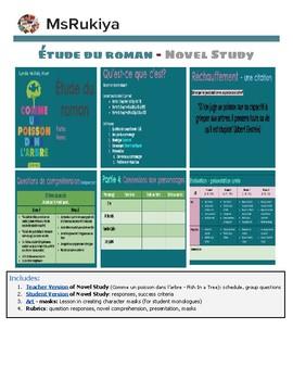 Étude du roman - Novel Study: Comme un poisson dans l'arbre