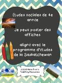 Études sociales de 4e année   Je peux poster des affiches   French Immersion