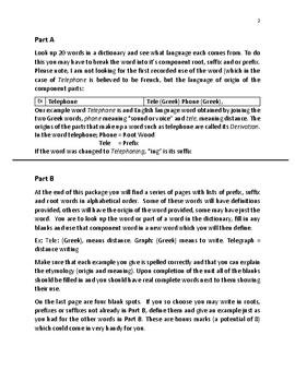 Etymology, Homonyms, Antonyms and Synonyms