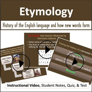 Etymology: Video, PowerPoint, Notes, & Quizzes
