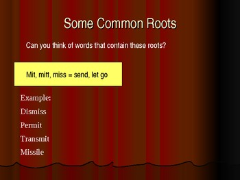 Etymology and Root Words