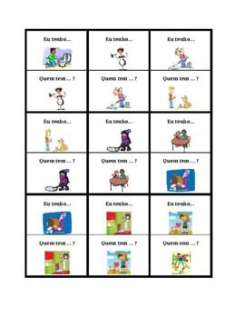 Tarefas domésticas (Chores in Portuguese) Eu tenho Quem tem