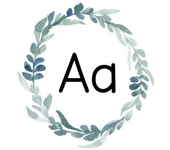 Eucalyptus Alphabet