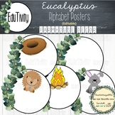Eucalyptus Alphabet Posters - Farmhouse Decor