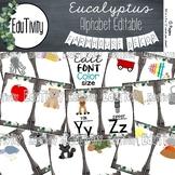 Eucalyptus Alphabet Posters {Version 2}