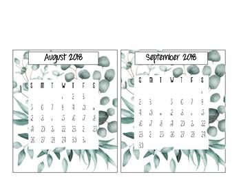 Eucalyptus Calendar 2018-2019