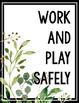 Eucalyptus Editable Posters - Classroom Rules