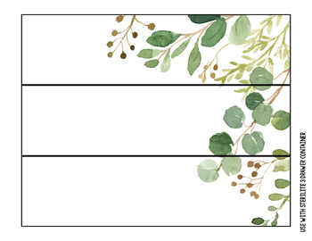 Eucalyptus & Green Leaf Decor - Editable Labels