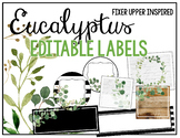 Eucalyptus & Green Leaf Decor - Editable Labels