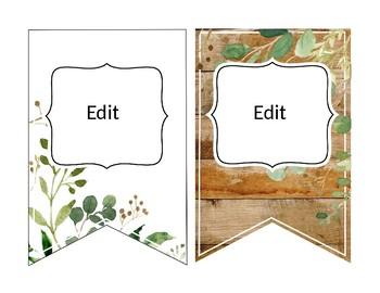 Eucalyptus & Green Leaf - Editable Banner