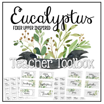 Eucalyptus & Green Leaf - Editable Teacher Toolbox