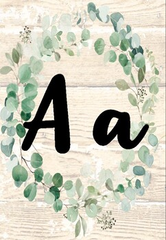Eucalyptus Greenery Alphabet Posters Decor Back to School