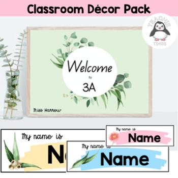 Eucalyptus/ Gum Leaf Themed Classroom Decor