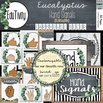 Eucalyptus Hand Signals-Farmhouse Decor